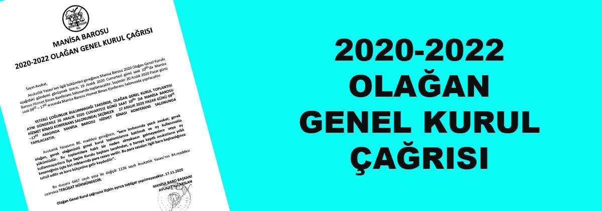 17.11.2020 2020-2022 Olağan Genel Kurulu Çağrısı